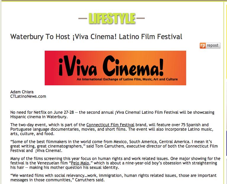 Waterbury To Host Viva Cinema Latino Film Festival Adam Chiara