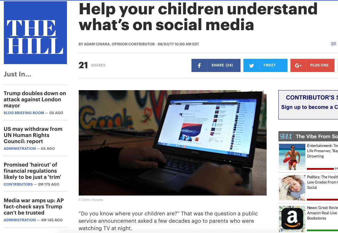 Help your children understand what's on social media – Adam